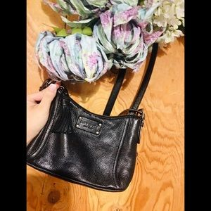 KATE SPADE Small Black Pebbled Leather Crossbody